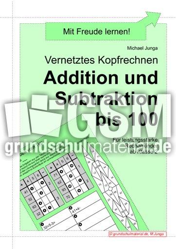 ZR 100 Vernetztes Rechnen - plus und minus 1 - Addition - Subtraktion - Vernetztes Rechnen ...