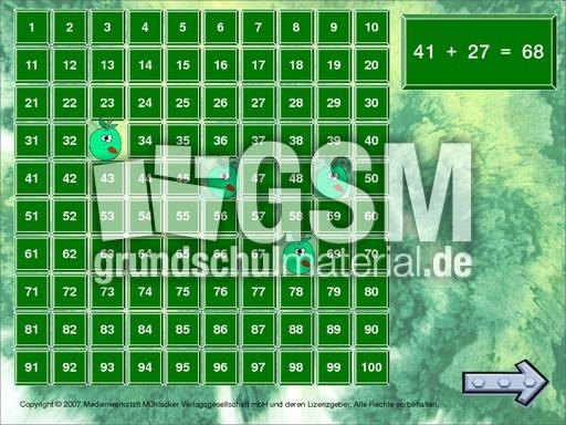 addition gem zehner 1 addition und subtraktion zr100 computer bungen mathe klasse 2. Black Bedroom Furniture Sets. Home Design Ideas