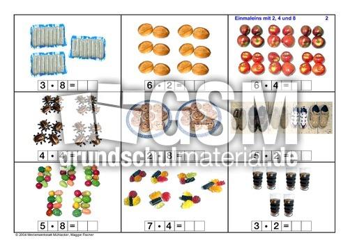 Arbeitsblatt Vorschule fotokartei aufnahme : 248-Reihe-Seite-1-10 - Fotokartei-Einmaleins - 1x1 Kartei ...