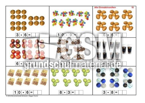 Arbeitsblatt Vorschule fotokartei aufnahme Alle-Einmaleinsreihen-Seite-1-15 - Fotokartei-Einmaleins ...