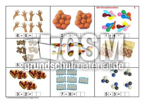 Arbeitsblatt Vorschule fotokartei aufnahme : Alle-Einmaleinsreihen-Seite-1-15 - Fotokartei-Einmaleins ...