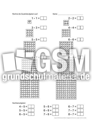 Unterrichtsmaterial für Einzelarbeit in der Grundschule - Einmaleins ...