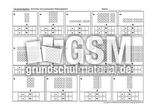 tauschaufgaben 7 1x1 tauschaufgaben einmaleins 1x1 mathe klasse 2. Black Bedroom Furniture Sets. Home Design Ideas