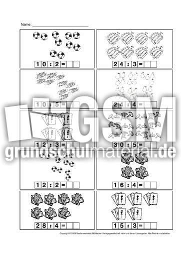 Geteilt Aufgaben 2 Division Arbeitsblätter Einmaleins 1x1