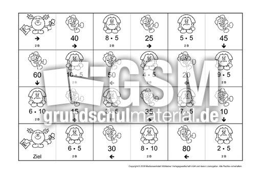 Einmaleins-Domino-2B - Domino 1x1 - Einmaleins - 1x1 ...