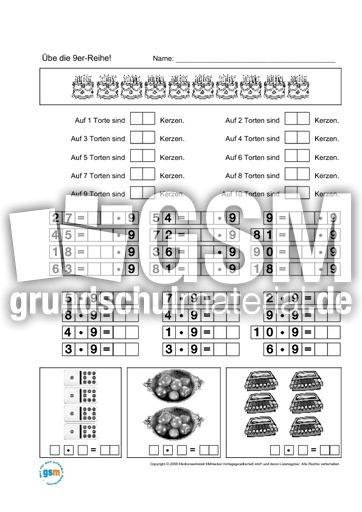 Einmaleins 3er-6er-9er Reihe - Einmaleins 1x1-Lernhefte - Einmaleins - 1x1 - Mathe Klasse 2 ...