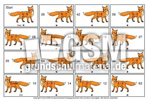 Einmaleins-Domino-Fuchs-B - Einmaleins-Domino - Tiere ...