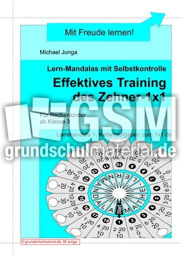 Lernmandalas Effektives Training des Zehner-1x1 - Lernmandalas 1x1 ...