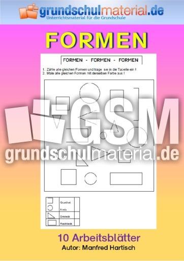 Formen - Formen - Geometrie - Mathe Klasse 2 - Grundschulmaterial.de