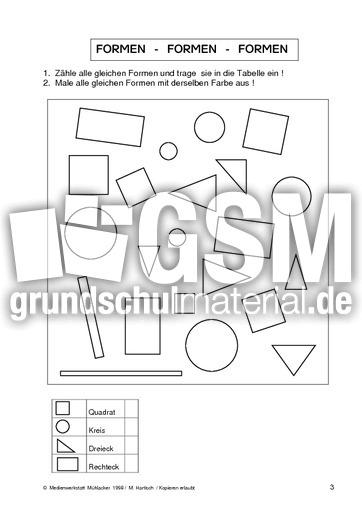 geo formen 03 formen geometrie mathe klasse 2. Black Bedroom Furniture Sets. Home Design Ideas