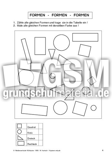 geo formen 04 formen geometrie mathe klasse 2. Black Bedroom Furniture Sets. Home Design Ideas