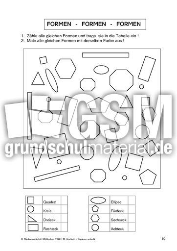 Geo-Formen 10 - Formen - Geometrie - Mathe Klasse 2 ...