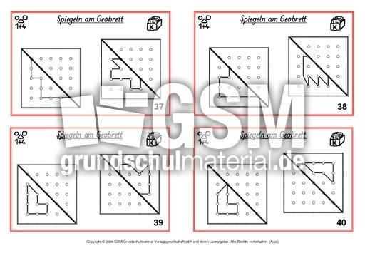 Symmetrie Freiarbeitskartei - Spiegelung - Geometrie - Mathe Klasse ...