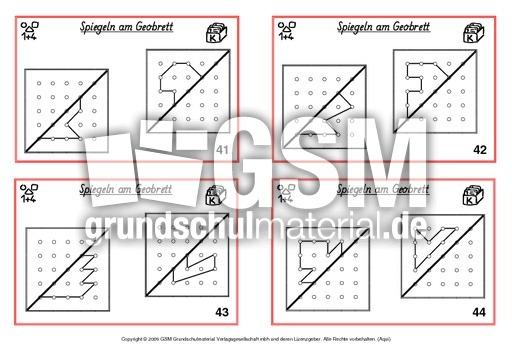 symmetrie freiarbeitskartei spiegelung geometrie mathe klasse 2. Black Bedroom Furniture Sets. Home Design Ideas