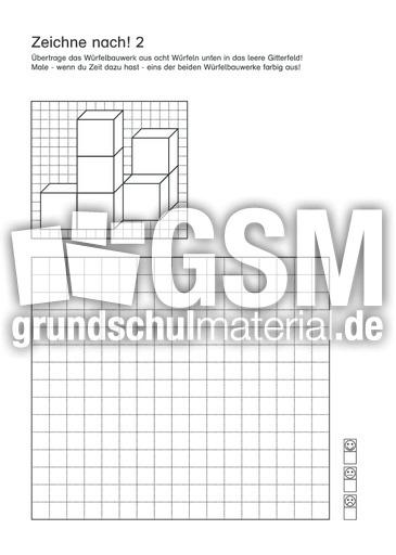 Wuerfelbauwerke in Gitterfelder uebertragen 2 d - Würfelgeometrie ...