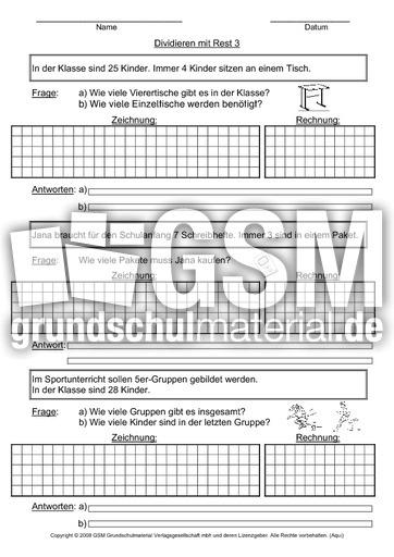 arbeitsblatt vorschule 187 rechengeschichten klasse 3