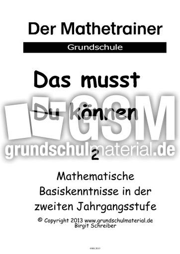 Großartig Mathe Test Der Zweiten Klasse Zeitgenössisch - Mathematik ...