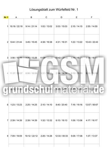 Uhr würfelfeld pdf
