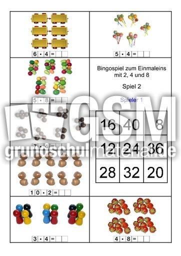 B-248-er-Reihe-2A - 1 x 1 - Bingo fu00fcr 2 - spielerisch rechnen - Mathe Klasse 2 ...