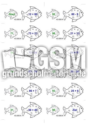 Fische ZR100AS - A+S+M+D im ZR100 - Dominorechnen mit Fischen ...