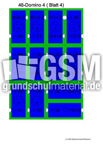 48_farbig - 1x1 plus - 1x1 - mal - Rechendominos - spielerisch rechnen - Mathe Klasse 2 ...