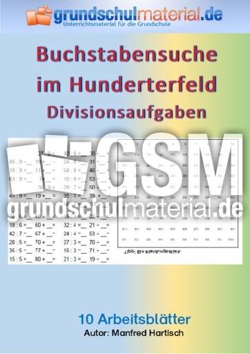 Buchstaben im Hunderterfeld - Division - Arbeitsblätter - 1x1 ...