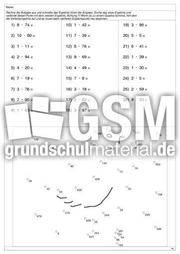 Ente 1 - Multiplikation 2stellig - Arbeitsblätter - 1x1 Training ...