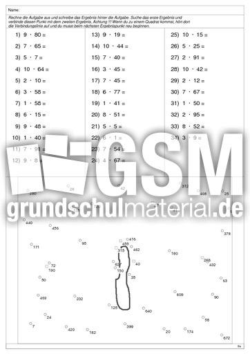 Falter 1 - Multiplikation 2stellig - Arbeitsblätter - 1x1 Training ...