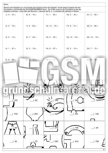 Arbeitsblätter Mathematik Multiplikation : Gr multi vogel multiplikation arbeitsblätter