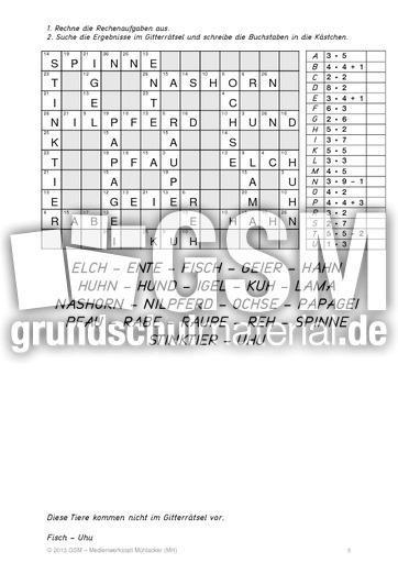 Kodierru00e4tsel_Geheimschrift_2 - Kodierru00e4tsel - 1x1 Training - Mathe Klasse 3 - Grundschulmaterial.de