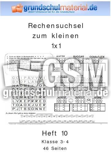 Heft 10_1x1 - Rechensuchselhefte - 1x1 Training - Mathe Klasse 3 ...