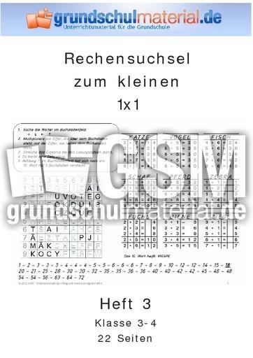 Heft 3_1x1 - Rechensuchselhefte - 1x1 Training - Mathe ...