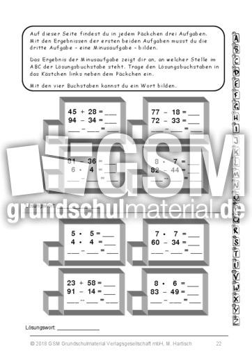 p ckchenrechnen grundrechenarten arbeitsbl tter mathe klasse 3. Black Bedroom Furniture Sets. Home Design Ideas
