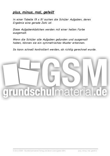 plus_minus_mal_geteilt_2 - Grundrechenarten - Arbeitsblätter - Mathe ...