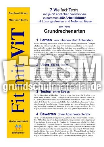 ViT Grundrechenarten - Portfolio Vielfachtests - Lernstandserhebung ...