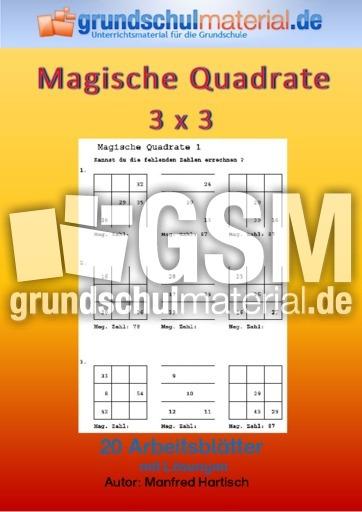 Ungewöhnlich Mathe Magische Quadrate Arbeitsblatt Zeitgenössisch ...