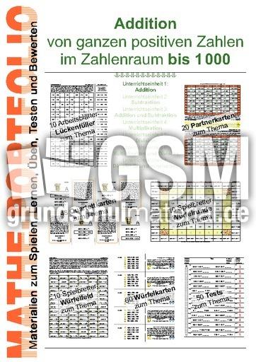 Portfolio 1000-2 Sub - Portfolios im ZR bis 1000 - Arbeitsblätter ...