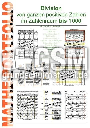 Portfolio 1000-5 Div - Portfolios im ZR bis 1000 - Arbeitsblätter ...