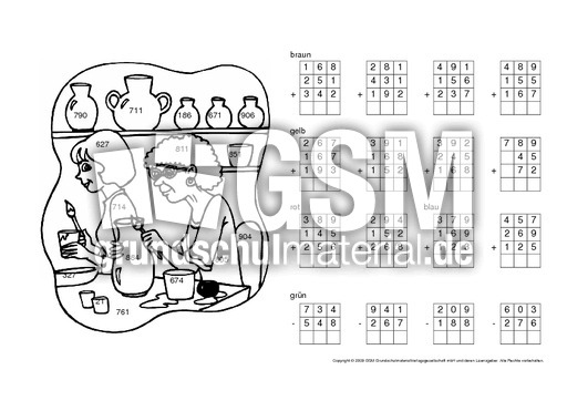 rechnen und malen kl 3 9 rechnen und malen arbeitsbl tter mathe klasse 3. Black Bedroom Furniture Sets. Home Design Ideas