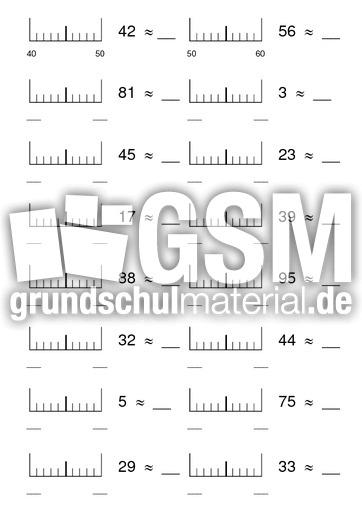 Runden auf volle Zehner - Runden - Arbeitsblätter - Mathe Klasse 3 ...
