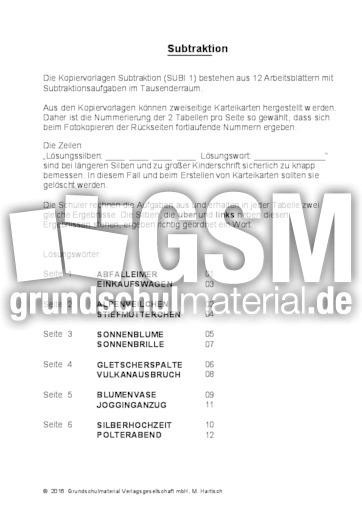 Groß Dreistellige Subtraktion Arbeitsblatt Mit Umgruppierung Ideen ...