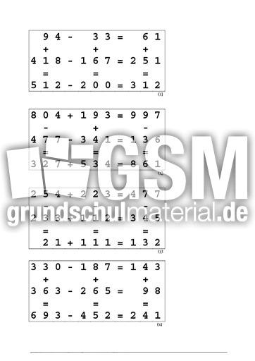 Zeichen und Ziffern Lösungen - Zeichen und Ziffern - Arbeitsblätter ...