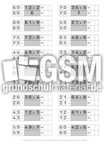 Punktrechnung-vor-Strichrechnung-3 - Punkt- vor Strichrechnung - Arbeitsblu00e4tter - Mathe Klasse 3 ...