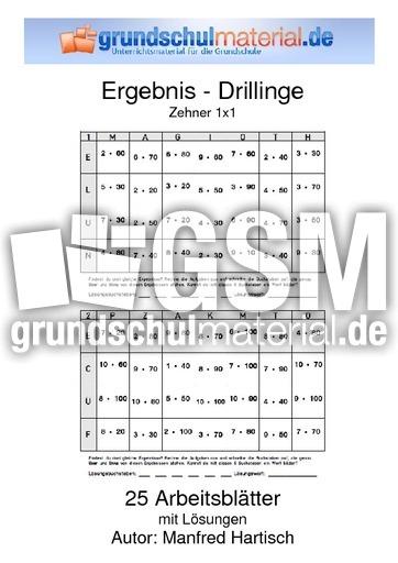 Zehner_1x1 - 10er 1x1 - Ergebnis-Drillinge - Mathe Klasse 3 ...