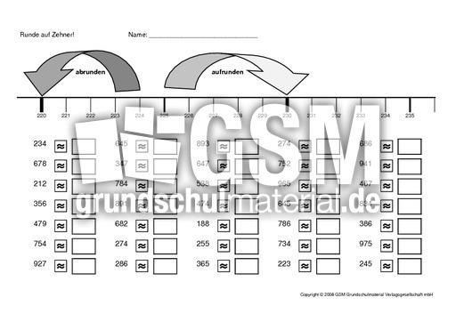 runden 1 arbeitsbl tter erweiterung des zahlenraums mathe klasse 3. Black Bedroom Furniture Sets. Home Design Ideas