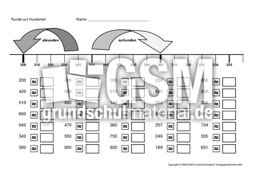 runden 2 arbeitsbl tter erweiterung des zahlenraums mathe klasse 3. Black Bedroom Furniture Sets. Home Design Ideas