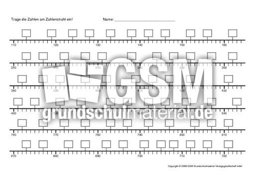 Zahlenstrahl-1 - Arbeitsblu00e4tter - Erweiterung des ...