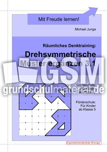 Drehsymmetrsiche Muster Ergänzen 31 Drehsymmetrie Gitterbilder