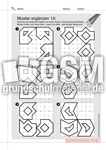 Drehsymmetrsiche Muster ergu00e4nzen 3.1 - Drehsymmetrie ...