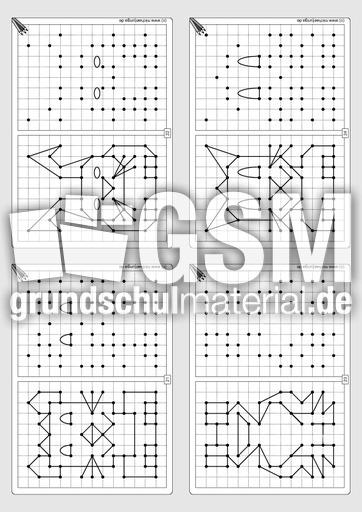 Gitterbilder zeichnen 1 - Arbeitsblätter - Gitterbilder zeichnen ...